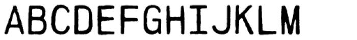 PRINTF Font UPPERCASE