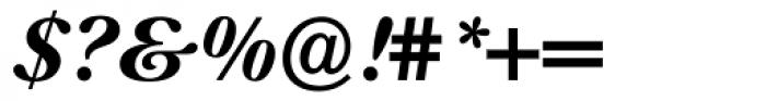 Prado BQ Bold Italic Font OTHER CHARS