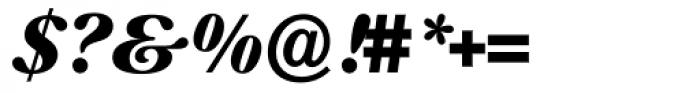Prado Swash BQ ExtraBold Italic OsF Font OTHER CHARS