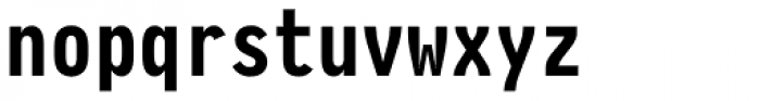 Pragmata Pro Mono Bold Font LOWERCASE