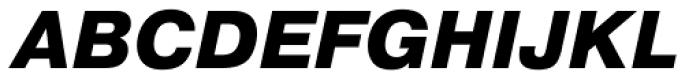 Pragmatica ExtraBold Oblique Font UPPERCASE
