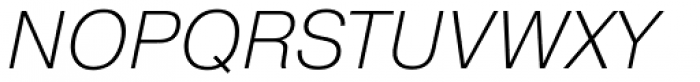 Pragmatica ExtraLight Oblique Font UPPERCASE