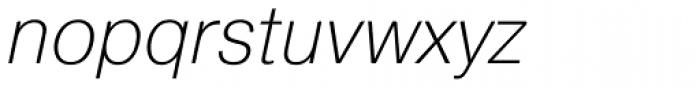 Pragmatica ExtraLight Oblique Font LOWERCASE