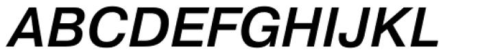 Pragmatica Medium Oblique Font UPPERCASE