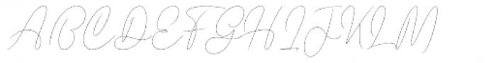Prague Metronome Hairline Font UPPERCASE