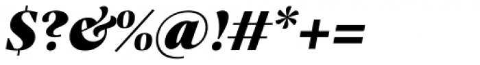 Praho Pro Black Italic Font OTHER CHARS