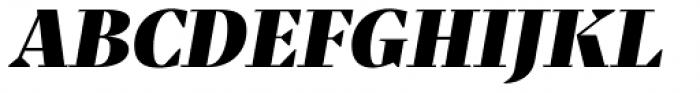 Praho Pro Black Italic Font UPPERCASE