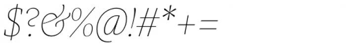 Praho Pro Hairline Italic Font OTHER CHARS