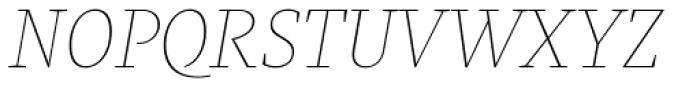 Praho Pro Hairline Italic Font UPPERCASE