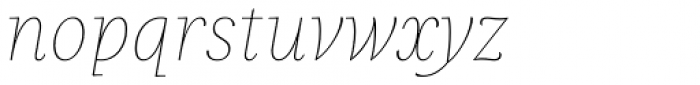 Praho Pro Hairline Italic Font LOWERCASE