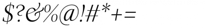 Praho Pro Light Italic Font OTHER CHARS