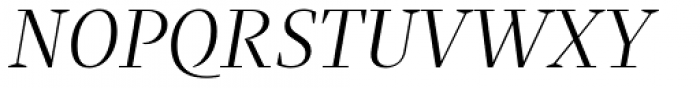 Praho Pro Light Italic Font UPPERCASE