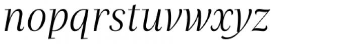 Praho Pro Light Italic Font LOWERCASE