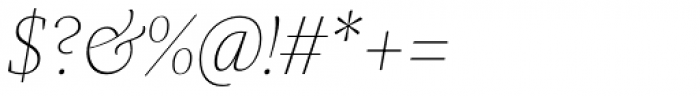 Praho Pro Thin Italic Font OTHER CHARS