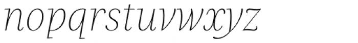Praho Pro Thin Italic Font LOWERCASE