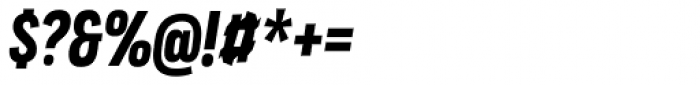 Praktika Bold Condensed Italic Font OTHER CHARS
