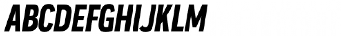 Praktika Bold Condensed Italic Font UPPERCASE