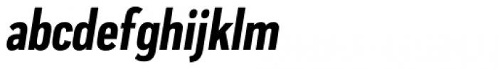 Praktika Bold Condensed Italic Font LOWERCASE