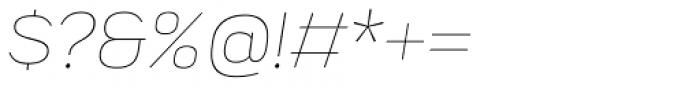 Praktika Extra Light Italic Font OTHER CHARS
