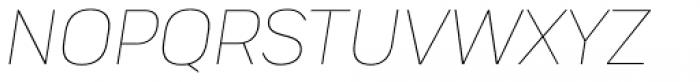 Praktika Extra Light Italic Font UPPERCASE