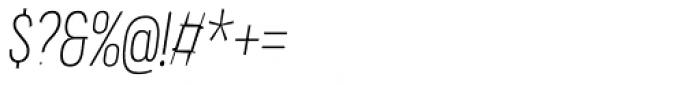 Praktika Light Condensed Italic Font OTHER CHARS