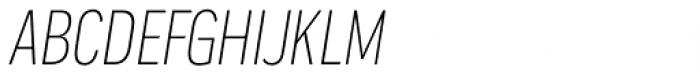 Praktika Light Condensed Italic Font UPPERCASE
