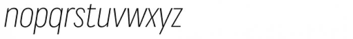 Praktika Light Condensed Italic Font LOWERCASE