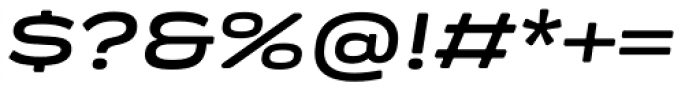 Praktika Round Bold Extended Italic Font OTHER CHARS