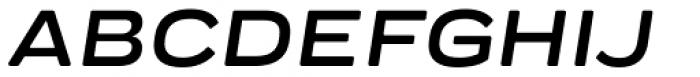 Praktika Round Bold Extended Italic Font UPPERCASE