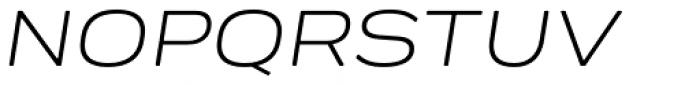 Praktika Round Extended Italic Font UPPERCASE