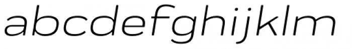 Praktika Round Extended Italic Font LOWERCASE