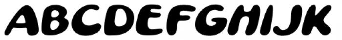 Pratfall Oblique Font UPPERCASE