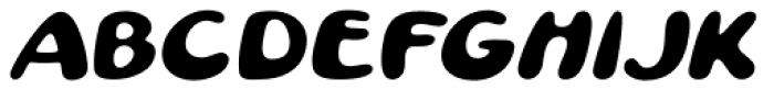 Pratfall Oblique Font LOWERCASE