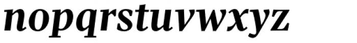 Pratt Nova Bold Italic Font LOWERCASE