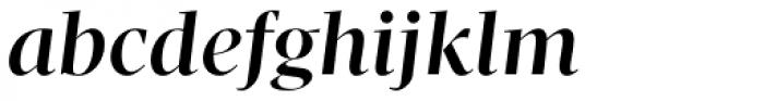 Pratt Nova Fine Bold Italic Font LOWERCASE