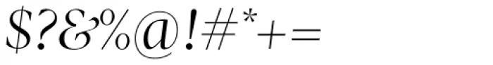 Pratt Nova Fine Italic Font OTHER CHARS