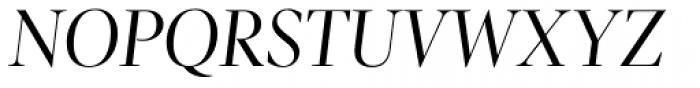 Pratt Nova Fine Italic Font UPPERCASE