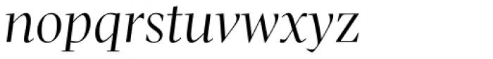 Pratt Nova Fine Italic Font LOWERCASE