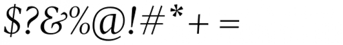 Pratt Nova Italic Font OTHER CHARS