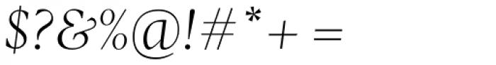 Pratt Nova Light Italic Font OTHER CHARS
