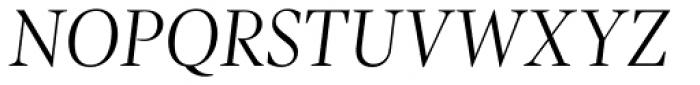 Pratt Nova Light Italic Font UPPERCASE