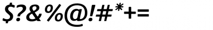 Praxis Next SemiBold Italic Font OTHER CHARS