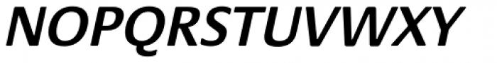 Praxis SemiBold Oblique Font UPPERCASE