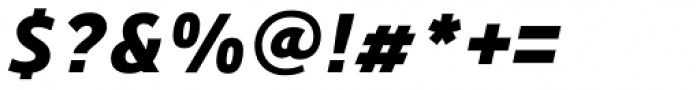 Precious Sans Two Black Italic Font OTHER CHARS