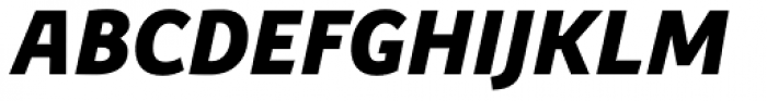 Precious Sans Two Black Italic Font UPPERCASE
