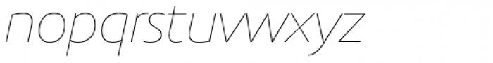 Precious Sans Two Thin Italic Font LOWERCASE