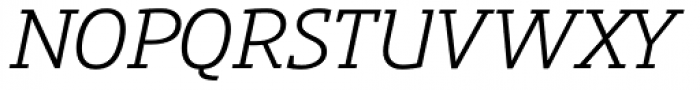 Precious Serif Book Italic Font UPPERCASE