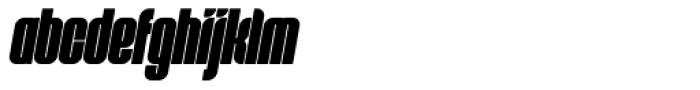 Predictor X Bold Oblique Font LOWERCASE