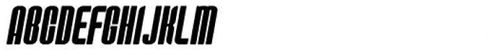 Predictor X Oblique Font UPPERCASE