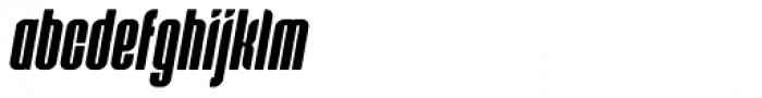 Predictor X Oblique Font LOWERCASE